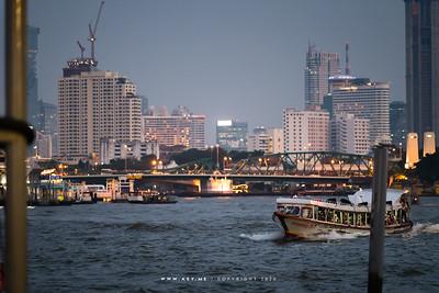 Skyline of  Bangkok view from Wat Arun