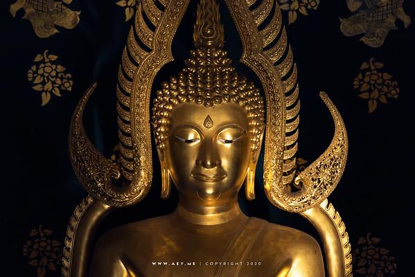 The Replica of Phra Buddha Chinnarat, Phra Vihara Sudhitham Rungsri, Wat Asokaram