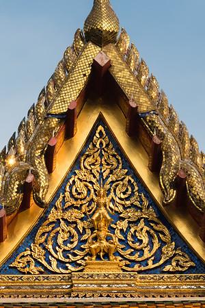 Prince Lakshmana on Hanuman on the West Pediment of Bovornwong Belfry, Wat Benchamabophit, Bangkok