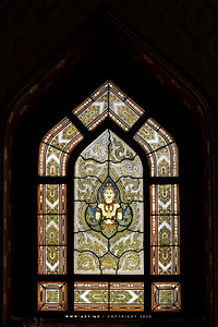 Thep Phanom, Stained Glass Window, Wat Benchamabophit