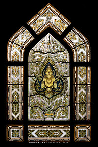 Thep Phanom, Stained Glass Window, Wat Benchamabophit, Bangkok