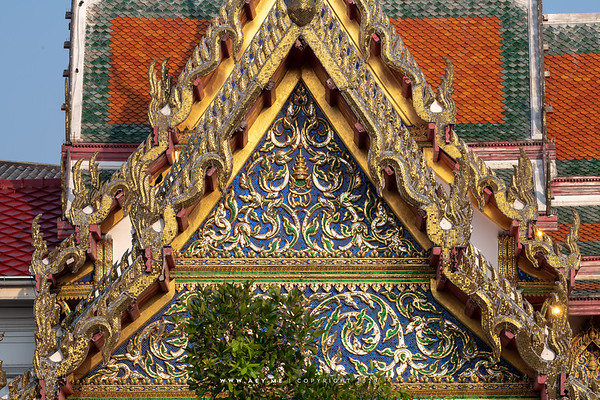 The East Pediment of Phra Vihara, Wat Benchamabophit