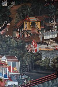 Mural Painting at Song Phanuat Throne Hall, Wat Benchamabophit