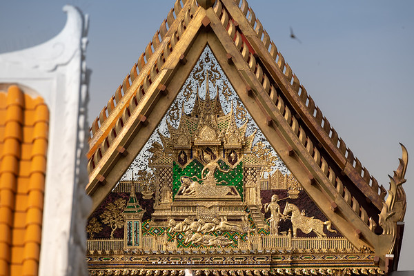 The North Pediment, Song Tham Throne Hall, Wat Benchamabophit (The Marble Temple)
