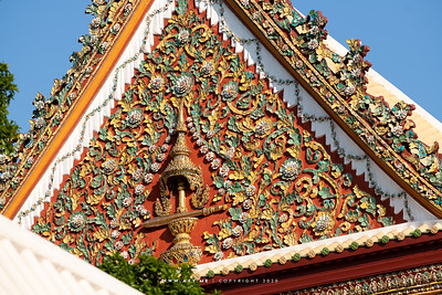 The Insignia of King Rama IV on the East Pediment of Phra Ubosot, Wat Bowonniwet