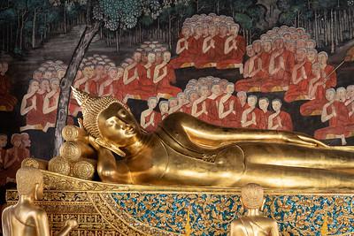 Reclining Buddha (Phra Saiya), Wat Bowonniwet