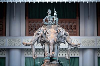 Indra God on Erawan Elephant, Wat Devarajkunchon