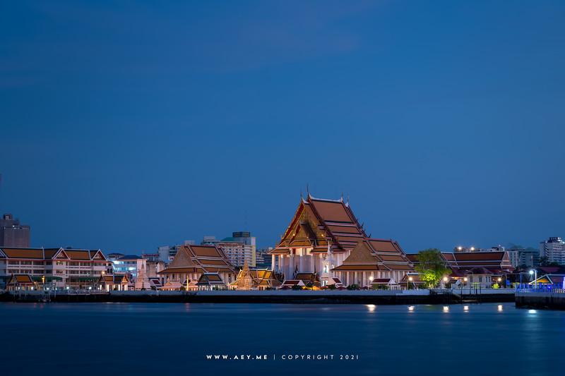 Wat Kalayanamitr view from Riva Arun Pier