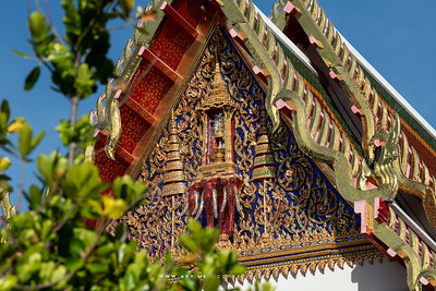 The West Pediment of Phra Ubosot, Wat Maha Pruettharam