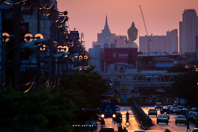 Sunset at Khlong San, Thonburi