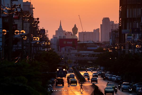 Sunset at Khlong San, Thonburi