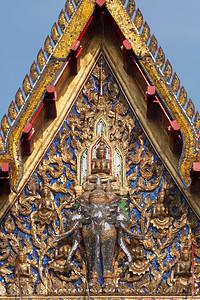 Indra God on Erawan Elephant, Wat Pathum Khongkha