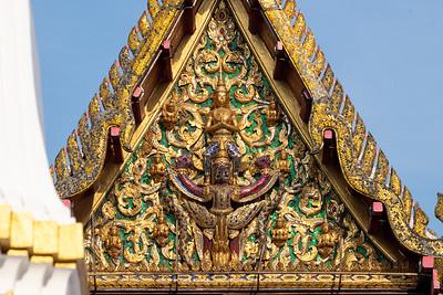 Narayana on Garuda on the West Pediment of Phra Ubosot, Wat Pathum Khongkha