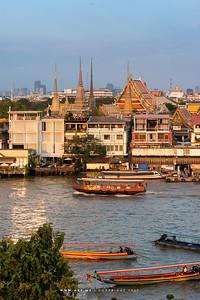 Wat Pho (Wat Phra Chetuphon) View from Wat Arun