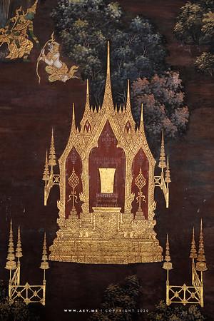 Ramayana Mural Painting, Wat Phra Sri Rattana Satsadaram (Wat Phra Kaew), Grand Palace