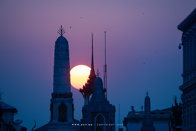 Sunset at Wat Phra Kaew, Grand Palace