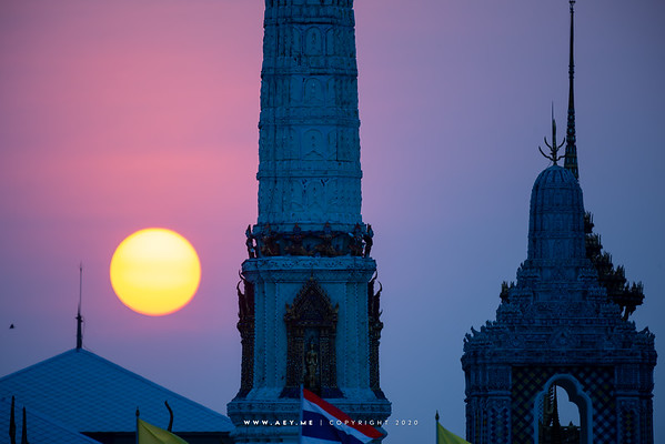 Sunset at Wat Phra Kaew