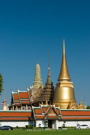 Wat Phra Sri Rattana Satsadaram (Wat Phra Kaew) view from the Grand Palace