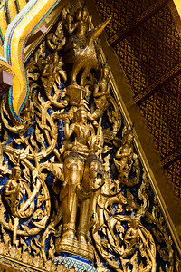 Brahma on a Swan and Indra on Erawan, Hor Phra Monthian Dharma, Wat Phra Sri Rattana Satsadaram (Wat Phra Kaew) Grand Palace