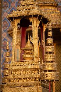 The Royal Emblem of King Rama V in Phra Bussabok, Wat Phra Sri Rattana Satsadaram (Wat Phra Kaew), Grand Palace