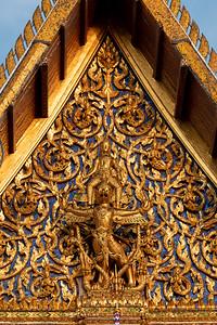 Narayana on Garuda, Phra Ubosot, Wat Phra Sri Rattana Satsadaram (Wat Phra Kaew), Grand Palace