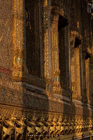 112 Garudas Holding Nagas, Phra Ubosot, Wat Phra Sri Rattana Satsadaram (Wat Phra Kaew), Grand Palace