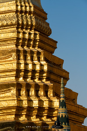 Golden Pagoda, Wat Phra Sri Rattana Satsadaram (Wat Phra Kaew), Grand Palace