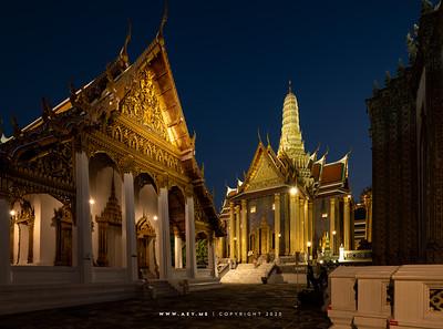 Prasat Phra Dhepbidorn (The Royal Pantheon) & Hor Phra Monthian Dharma, Wat Phra Sri Rattana Satsadaram (Wat Phra Kaew), Grand Palace