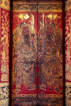 The front door of Phra Ubosot, Wat Ratcha Orasaram