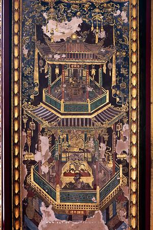 Mural painting, Phra Ubosot, Wat Ratcha Orasaram