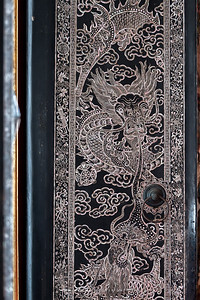 Mother of Pearl Inlay, Outside of the front door of Phra Ubosot, Wat Ratcha Orasaram