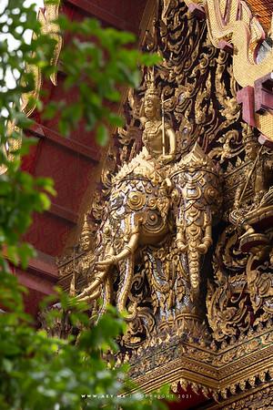 Indra God on Erawan Elephant, Wat Ratchaburana Ratchaworawihan (Wat Liap)