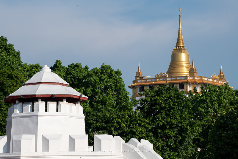 Mahakan Fort and Phukhao Thong, Wat Saket