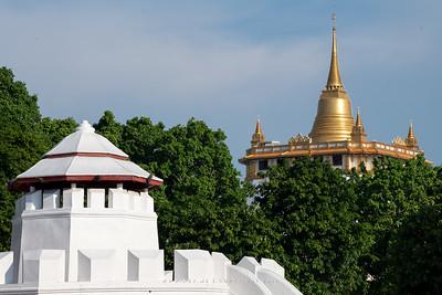 Mahakan Fort and Phukhao Thong, Wat Saket