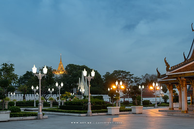Phukhao Thong, Wat Saket view from Mahajetsadabadin Royal Pavilion