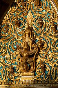 Narayana on Garuda, Phra Ubosot, Wat Saket