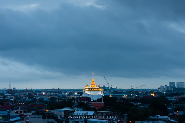 Phukhao Thong, Wat Saket view from  Bobae Tower