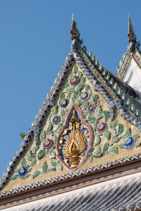 The Insignia of King Rama IV, the South Pediment of Phra Ubosot, Wat Somanas