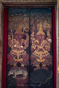 Ganesha on the Windows of Phra Ubosot, Wat Suthat Thepwararam