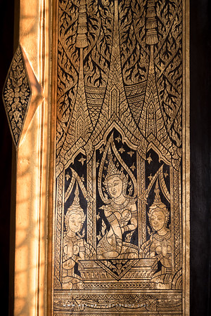 Gold and Black Lacquered Window, Wat Thepthidaram