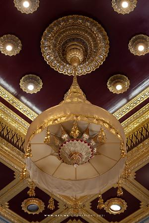 Tiered Umbrella above the Golden Buddha, Phra Maha Mondop, Wat Traimit