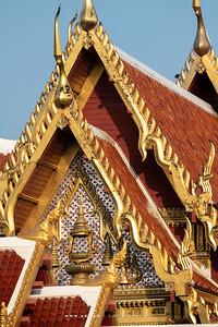The East Pediment of Phra Ubosot, Wat Tri Thotsathep