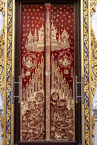 Mother of Pearl Inlay, Doors, Phra Ubosot,  Wat Tri Thotsathep