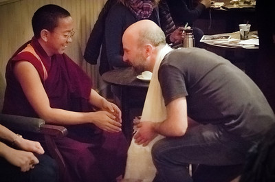 Offerring katha - within Dolpo Tulku Rinpoche's teaching Prague