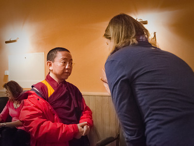 Dolpo Tulku Rinpoche before his teaching about Bardo in Prague D