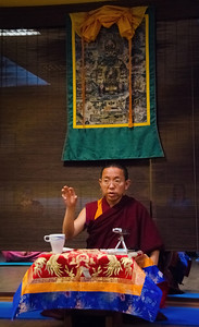Dolpo Tulku Rinpoche teaching, Prague December 2013.