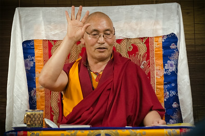 Lama Sangye Monlam teaching in Prague