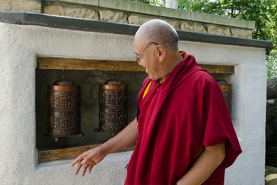 Lama Sangye Monlam in Prague ZOO, by Buddhist gompa.