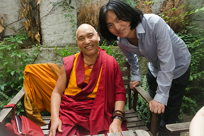 Two Tibetans meeting in Prague