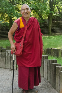 Lama Sangye Monlam in Prague ZOO